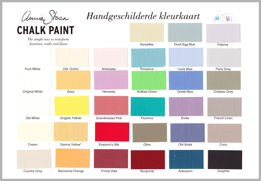 Annie Sloan Verf.Annie Sloan Chalk Paint Is De Ideale Krijtverf